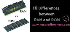 10 Differences between RAM and ROM (RAM vs ROM). Simplified point wise