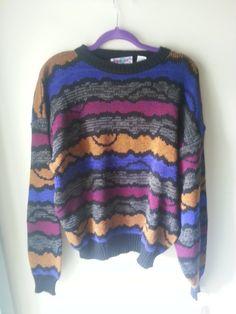 VELMA Vintage 80s PERMIT Jewel Tone Cosby Sweater by fightforflight, $25.00