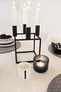 Black and white / Design Letters / By Lassen Kubus / Iittala / Marimekko / Table setting