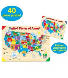 The Learning Journey Lift And Learn USA Map Puzzle Learning And - Magnetic us map puzzle janod