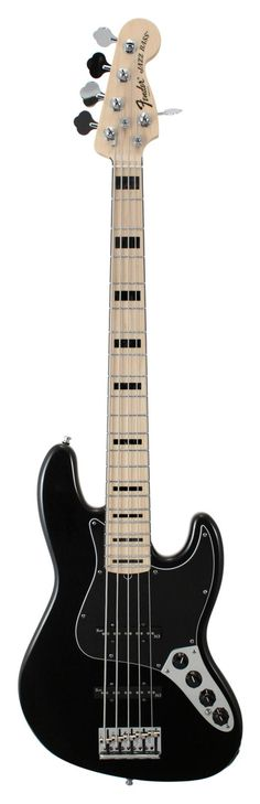 Fender American Deluxe Jazz V Electric Bass Guitar Black | Rainbow Guitars