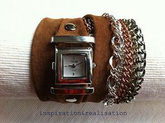 How to make a Muñequera-Reloj with chains