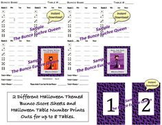 Halloween Bunco Printables  For Debbie    Halloween  Fall