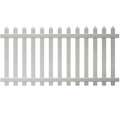 Veranda Glendale 4 ft. H x 8 ft. W Vinyl Spaced Picket Fence Panel... ($86) ❤ liked on Polyvore featuring outdoors