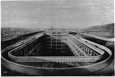 Rooftop racetrack: The Fiat Lingotto factory in Italy