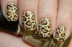 Nails In Nippon: Leopard Tutorial