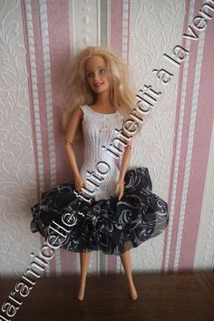 tuto gratuit barbie : robe froufroutante