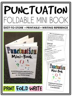 This little resource will teach students how to effectively use punctuation in their writing. #Punctuation #Foldable #Interactive #Strategies #English #Classroom