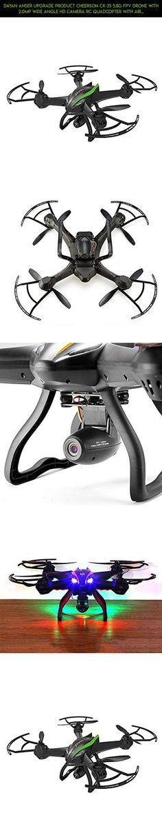 Dayan Anser Upgrade Product Cheerson CX-35 5.8G FPV Drone With 2.0MP Wide Angle HD Camera RC Quadcopter With Air Pressure Sensor(Black&Green) #technology #parts #fpv #products #plans #drone #tech #shopping #camera #with #cheerson #quadcopter #racing #kit #camera #gadgets