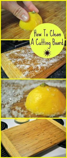 Step-by-step tutorial on how to clean and disinfect your cutting board without using chemicals!