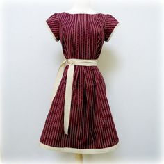 Vintage Inspired Dress Reversible Pleated 1950s by ReverseClothing, $81.00