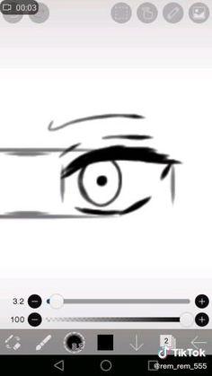 Eye Drawing Tutorials, Digital Painting Tutorials, Digital Art Tutorial, Drawing Techniques, Art Tutorials, Anime Drawings Sketches, Pencil Art Drawings, Anime Eyes Drawing, Digital Art Beginner