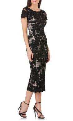 Women's Js Collections Soutache Lace Midi Dress #cocktaildress #holidaydress afflink