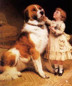 """Trust"" by Charles Burton Barber (1845 – 1894, English)"