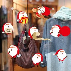 Christmas Santa Claus Removable Furniture Vinyl Window Wall Sticker Decoration
