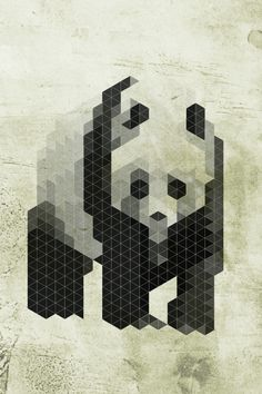 Species in danger of pixelation by Rodrigo Jimenez, via Behance