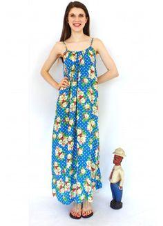 Maxi Dress Lulu Jen in Blue Spots