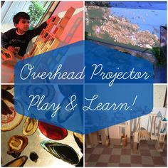 Reggio overhead projector play ideas. How to use an OHP in activities for art, creativity, education, learning, exploration, imagination, homeschooling.