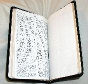 The Classic Note Bible is a great study tool. A blank page carefully bound between each page of Scripture makes this genuine leather bound Bible ideal to write down sermon notes, bible study notes, or sermon outlines. King James Version.