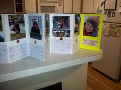 My son's timeline project for school. First grade timeline. Pockets hold additional artifacts and pictures.