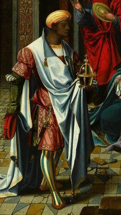 Unknown Artist (Antwerp School)  The Adoration of the Magi (detail)  Netherlandish (c.1520-1530)  Oil on Panel; 80 x 56.5 cm.