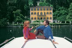 Gianni Versace and Lalla Spagnol at Villa Fontanelle in Slim Aarons: La Dolce Vita - The Cut Slim Aarons, Donatella Versace, Gianni Versace, Jet Set, Nct, Italian Fashion Designers, Glamour, Attractive People, Fotografia