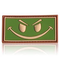 3D Rubber Patch Evil Smiley multicam