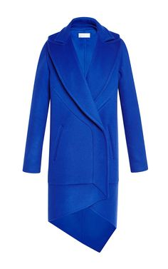 Antonio Berardi Electric Blue Double Coating Wool Coat by Antonio Berardi for Preorder on Moda Operandi