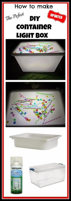 The Perfect Diy Container Light Box Light Table And Light Play Ideas Sensory Play Messy Play Fine Motor Ideas Reggio Montessori Homeschooling Twins The Ultimate Light Table Guide Sensory Bins, Sensory Activities, Sensory Play, Indoor Activities, Family Activities, Diy Light Table, Diy Table, Diy Light Box, Diy For Kids