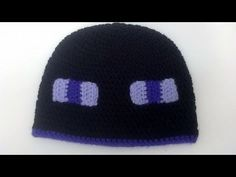 How to Crochet a Minecraft Enderman Beanie Hat