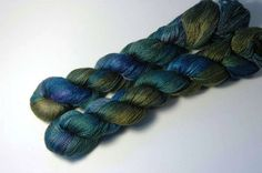 Silk Baby Camel Lace in Peacock Feathers by Lichtfaden on Etsy,
