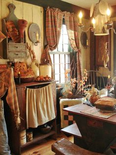 You can get ideas here about primitive decorating. We share with you primitive home decor, primitive home ideas, primitive country decor in this photo gallery. Primitive Homes, Primitive Kitchen Decor, Prim Decor, Primitive Furniture, Country Primitive, Country Kitchen, Rustic Decor, Primitive Fall, Primitive Bedroom