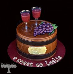 """Nice """"wine"""" cake from Cuteology Cakes! Nice """"wine"""" cake from Cuteology Cakes! Beautiful """"wine"""" cake by Cuteology Cakes! 81 Source by DianaMarieEvent Wine Theme Cakes, Themed Cakes, Wine Cakes, Unique Cakes, Creative Cakes, Beautiful Cakes, Amazing Cakes, Fondant Cakes, Cupcake Cakes"""