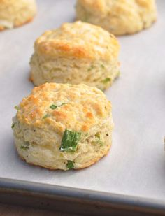 Sour Cream, Cheddar and Green Onion Biscuits make for a savory side dish and are hearty enough to stand on their own.