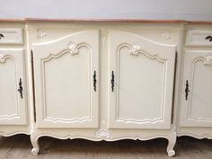 French vintage enfillade / sideboard - front on / French Furniture / Frenchfinds.co.uk