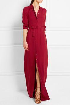 Vanessa Seward | Bahia belted silk-crepe maxi dress | NET-A-PORTER.COM