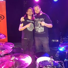 So, I just met and played drums with Jay Weinberg from @Slipknot. Dafuq?  Got a free @SJCdrums t-shirt as well as a free pair of drumsticks that Jay kindly signed for me. Not many better ways to spend an evening that nerding out over drums. Respect to @gear4music for holding all this and for free also. Sick  #jayweinberg #slipknot #sjcdrums #zildjiancymbals #evansdrumheads #vaterdrumsticks #gear4music #sjcfamily #sickdrummer #drummer #drumnerds #leedswardrobe Jay Weinberg, Zildjian Cymbals, Gear 4, Slipknot, Leeds, Drums, Respect, Sick, Drum