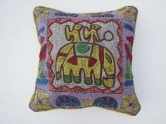 Suzani Cushion Cover, Bohemian from jaipurihandicraft