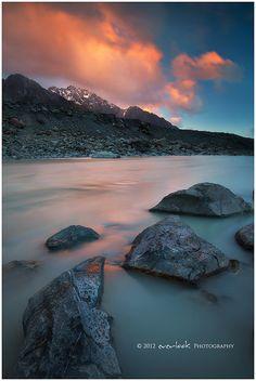 Glacial Runoff     Tasman Valley New Zealand Flickr - Photo Sharing!