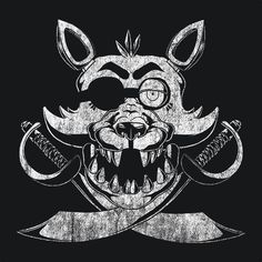 Foxy FNAF T-Shirt Foxy is one of the four main antagonists in Five Nights at Freddy's. His starting location is behind the curtain in Pirate Cove, from which he will emerge and sprint towards The Offi