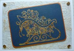 Stamped & gilded sleigh