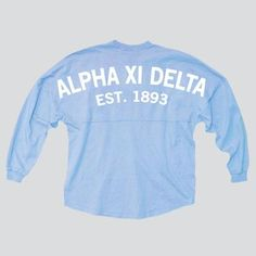 Alpha Xi Delta Coastal Jersey! On pre-order right now and will arrive mid-February!