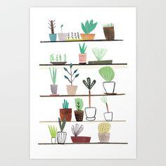 WINDOW SILL JUNGLE  Art Print by agata krolak - $16.50