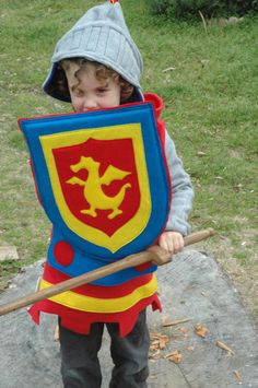 Knight Shield - PRIMARY Colors - Halloween Costume - Halloween Costume - Kid Costume. $45.00, via Etsy.