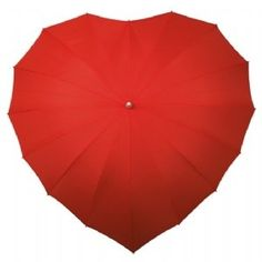 Heart Shaped Umbrella (Red) by luggagebage