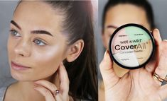 In this video I wanted to show you how to cover up redness, dark circles, pimples etc. I am really obsessed with the highlight shade in this palette, it's a . How To Cover Pimples, Makeup Tips Over 40, Wet And Wild, Dark Circles, Budgeting, Hair Beauty, Eyeshadow, Skin Care, Make Up