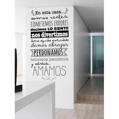 """Aprender de sus errores Home Vinilo pared calcomanía Sitcker citar letras palabras de 24 /"""""""