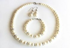 Items similar to Bridesmaid jewelry set, pearl necklace bracelet earrings, wedding gift, bridal jewelry, maid of honor wedding gift wedding party on Etsy Junior Bridesmaid Gifts, Wedding Gifts For Bridesmaids, Gifts For Wedding Party, Wedding Dress, Pearl Bridesmaid Jewelry, Pearl Necklace Wedding, Wedding Jewelry, Girls Necklaces, Necklace Lengths