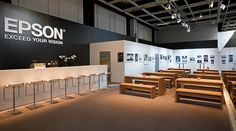 MC² Europe's stand design aligned the Epson brand with the particulars of any given event.
