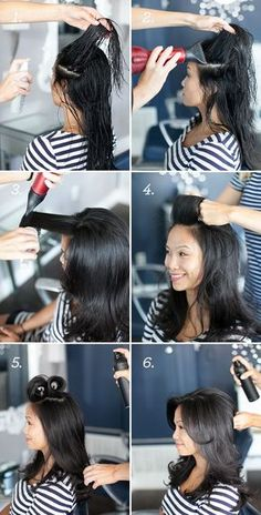 Flat to Full how to get fuller hair.how to get fuller hair. My Hairstyle, Pretty Hairstyles, African Hairstyles, Prom Hairstyles, Asian Haircut, Fuller Hair, Tips Belleza, Layered Hair, Great Hair